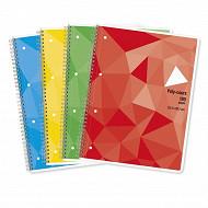 Cora cahier multicours 22,4x29,7 cm, 180 pages, grands carreaux, 90g