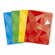 Cora cahier piqûre 17x22 cm 48 pages seyes 90 g couverture vernie