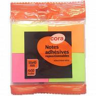 Cora  4 blocs notes repositionnables   - 4x50x40 mm- flowpack