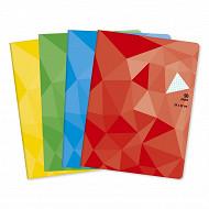 Cora cahier piqûre (agrafe)  24x32 cm 96 pages 5x5 petits carreaux 90g couverture vernie