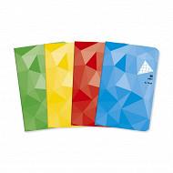 Cora carnet piqûre (agrafe) 9x14 cm  96 pages 5x5 petits carreaux 80g couverture vernie