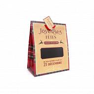 """Sac cadeau """"écossais"""" mm 27x33cm"""