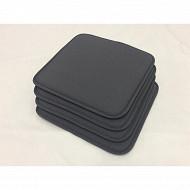 Anjosa lot de 4 galettes 40x40x1.7 cm polyc/lustrasil uni gris n°5