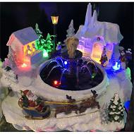 """Village blanc """"fontaine"""" led et eau"""