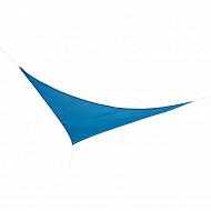 Voile d'ombrage triangulaire 3X3X3m en polyester 160 g/m  colorie bleu