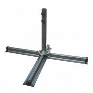 Base pour parasol de terasse 1mx60 cm en acier