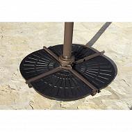 Dalle de parasol 47x64x4.2 cm 19kg en résine coloris noir