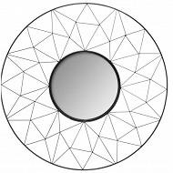 """Miroir """"graphique"""" noir diam 50cm"""