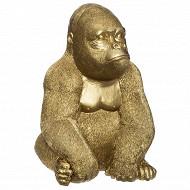 Gorille doré h22cm