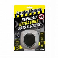 BARRIERE A RONGEURS - Répulsif ultrasons rats et souris - Blister de 1 appareil
