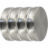 Embout cylindre rayé x2 diamètre 16mm façon inox