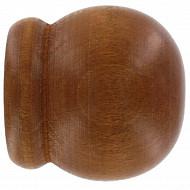 Embouts tringle x2 pomme teck diamètre 35mm
