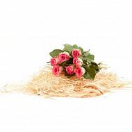 7 Roses 40 cm bouton 3.8 cm ton froid