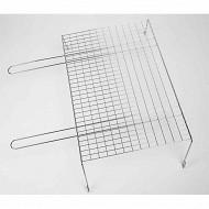 Verciel grille simple sur pieds acier chromé 2 manches métal 60x40cm réf 476240PR