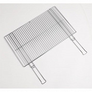Verciel grille double acier chromé manche métal 68x40cm réf 456840PR