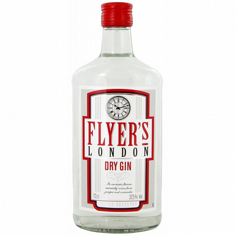 Flyer's dry gin 70cl 37.5%vol