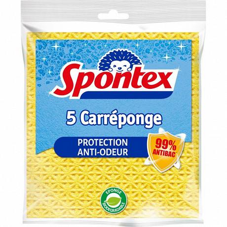 Spontex carréponge 5 carrés vaisselle super absorbants