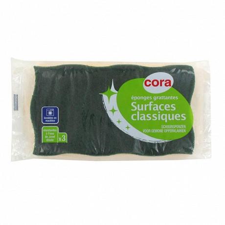 Cora éponges grattantes surfaces classiques x3