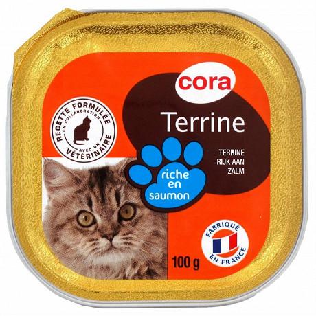 Cora terrine riche en saumon pour chat 100g