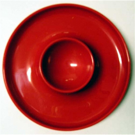 Cora coquetier rond coloris rouge
