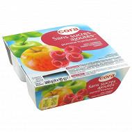 Cora spécialité de pomme framboise sans sucres ajoutés 4 x 95g