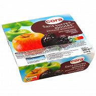 Cora purée de pomme et de pruneau sans sucres ajoutés 4x95g