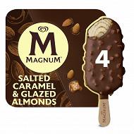 Magnum batonnets glace caramel salé & amande glacée x4 - 296g