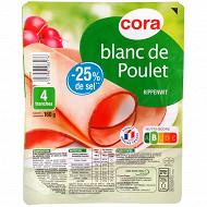 Cora blanc de poulet -25% de sel 4 tranches 160g
