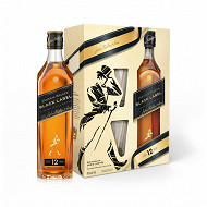 Johnnie Walker black label 40%vol 70cl coffret 2 verres