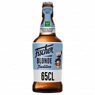 Fischer tradition bière blonde d'Alsace 65cl 6%vol