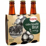 Cora cidre brut 3 x 33 cl 4,5 % Vol.