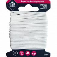 Style couture élastique rond 8m blanc