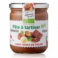 Lucien Georgelin pâte à tartiner bio noisette cacao sans huile de palme 400g