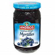 Andros confiture alléée de myrtilles 350g