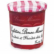 Bonne Maman confiture fraises et fraises des bois 370g
