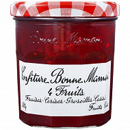"""Bonne Maman confiture 4 fruits """"fraises, cerises, groseilles, cassis"""" 370g"""