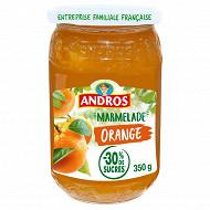 Andros confiture allégée d'orange 350g