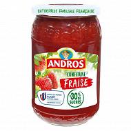 Andros confiture de fraises -30% de sucres 350g
