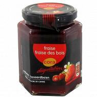 Cora dégustation préparation de fruits fraise et fraise des bois 310g