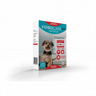 Fiprocare  pipette antiparasitaire x 2 petit chien