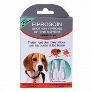 Fiprosoin - Pipette antiparasitaire x2 pour moyen chien