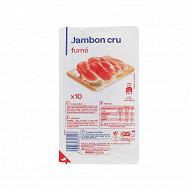 Jambon cru fumé 10 tranches 200g