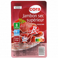 Cora jambon sec supérieur label rouge 9 mois 8 tranches 200g