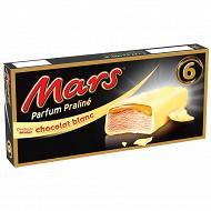 Mars glace barre glacée chocolat blanc praliné x6 246,6ml