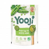 Yooji purée de petits pois bio 4 mois et plus 480g (24 galets de 20g)