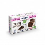 La compagnie artique 2 moelleux au chocolat bio 160g