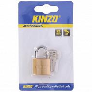 Cadenas métal 25 mm + 3 clés