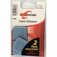 Trefilaction patin glisseur 35x35 gris