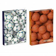 Sports agenda scolaire 12x17 cm 400 pages 1 jour  par page