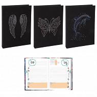 Angel agenda scolaire 12x17 cm 1 jourp par page textile